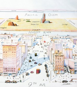 Saul Steinberg, View of the World from 9th Avenue