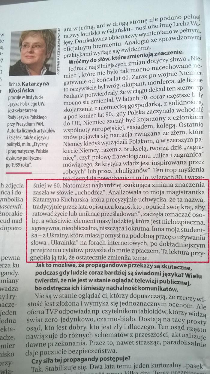 dr hab. Katarzyna Kłosińska o zmianie znaczenia słów